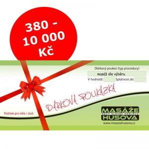 Dárková poukázka 380-10000 Kč - Masáže Husova