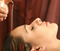 Ayurvedic coffee head massage